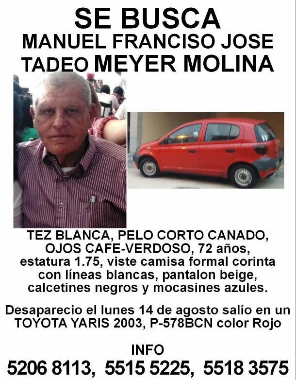 SE BUSCA  Manuel Francisco Jose Meyer Molina Toyota Yaris color rojo sin polarizado https://t.co/bjn4W9CseD