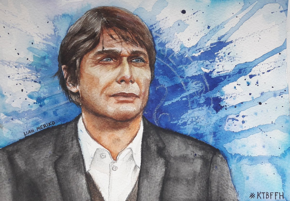Congratulations to @ChelseaFC amazing Boss Antonio Conte for the FIFA nomination! #chelseafc #watercolor #KTBFFH #art #portrait <br>http://pic.twitter.com/z2Kn8VlBYY