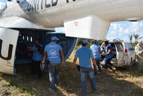 Observadores da ONU concluem remoção de armas das Farc na Colômbia.📷 Missão da ONU na Colômbia/Divulgação https://t.co/gf5Qp7u6hZ