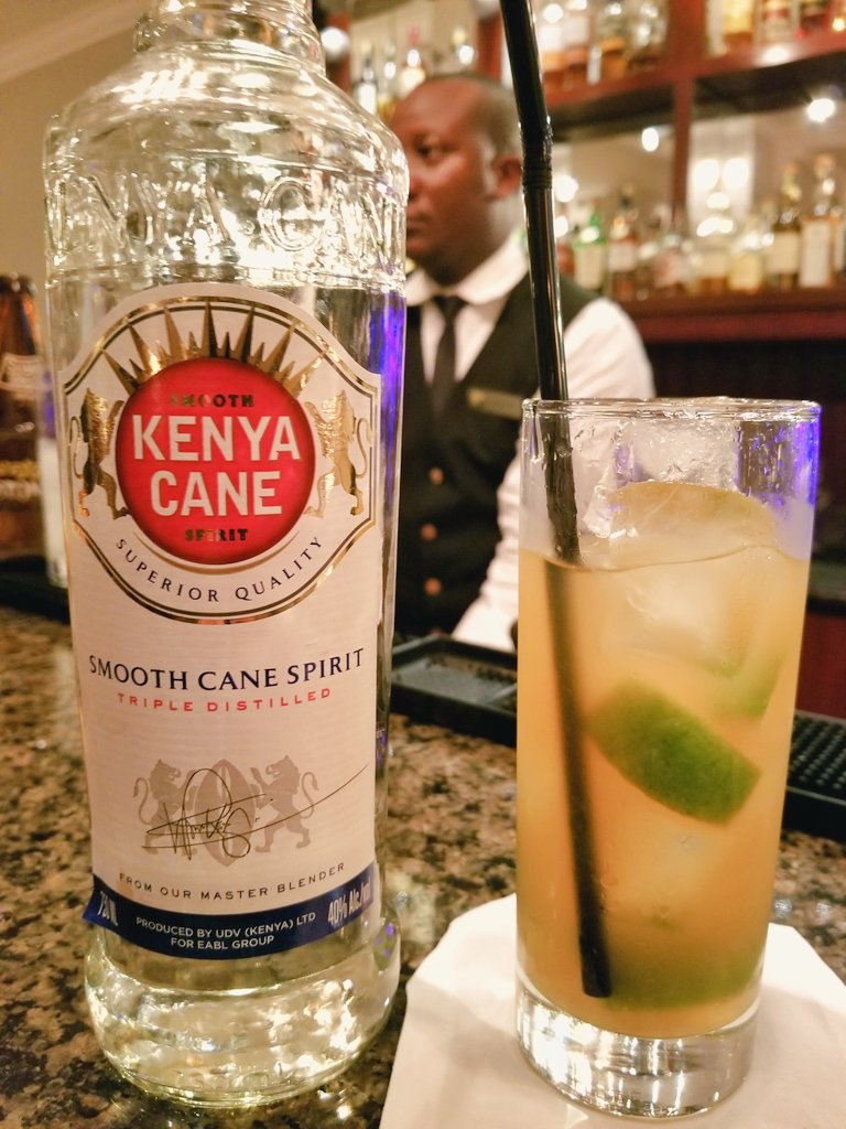 Trying the local #Rum in #Kenya, this is #KenyaCane, and it&#39;s delicious! #LuxuryTravel #Nairobi #FairmontMoments <br>http://pic.twitter.com/Gt5bVXcKzi