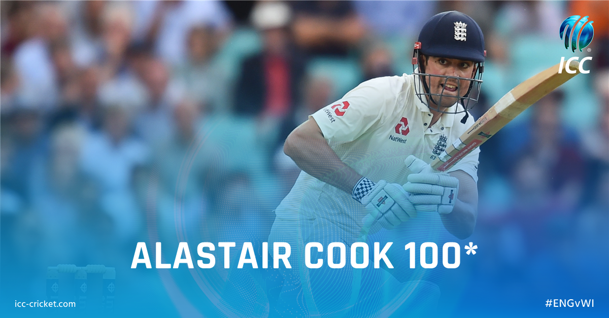 Alastair Cook reaches his century at Edgbaston, his 31st in Test crick...