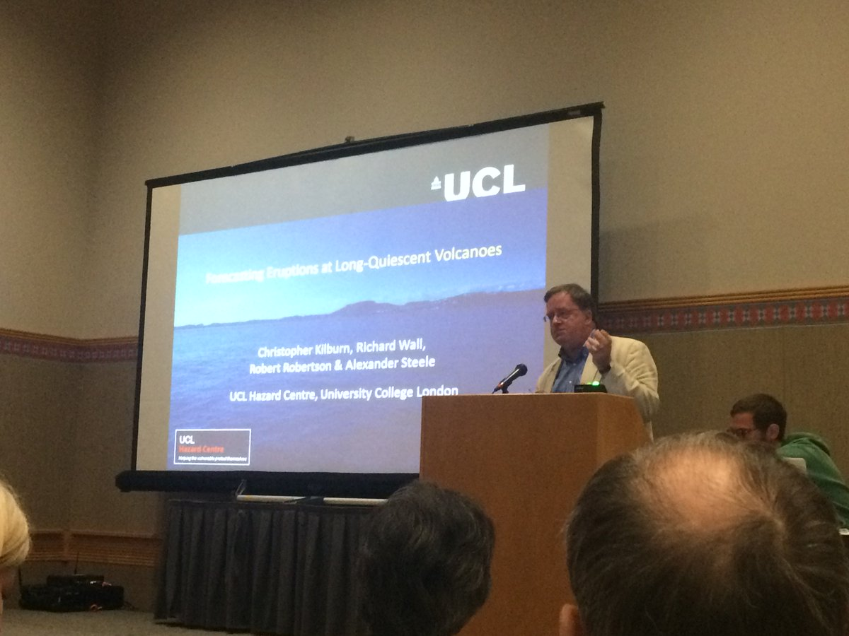 How can we find better ways to forecast eruptions? Chris Kilburn @UCLH...
