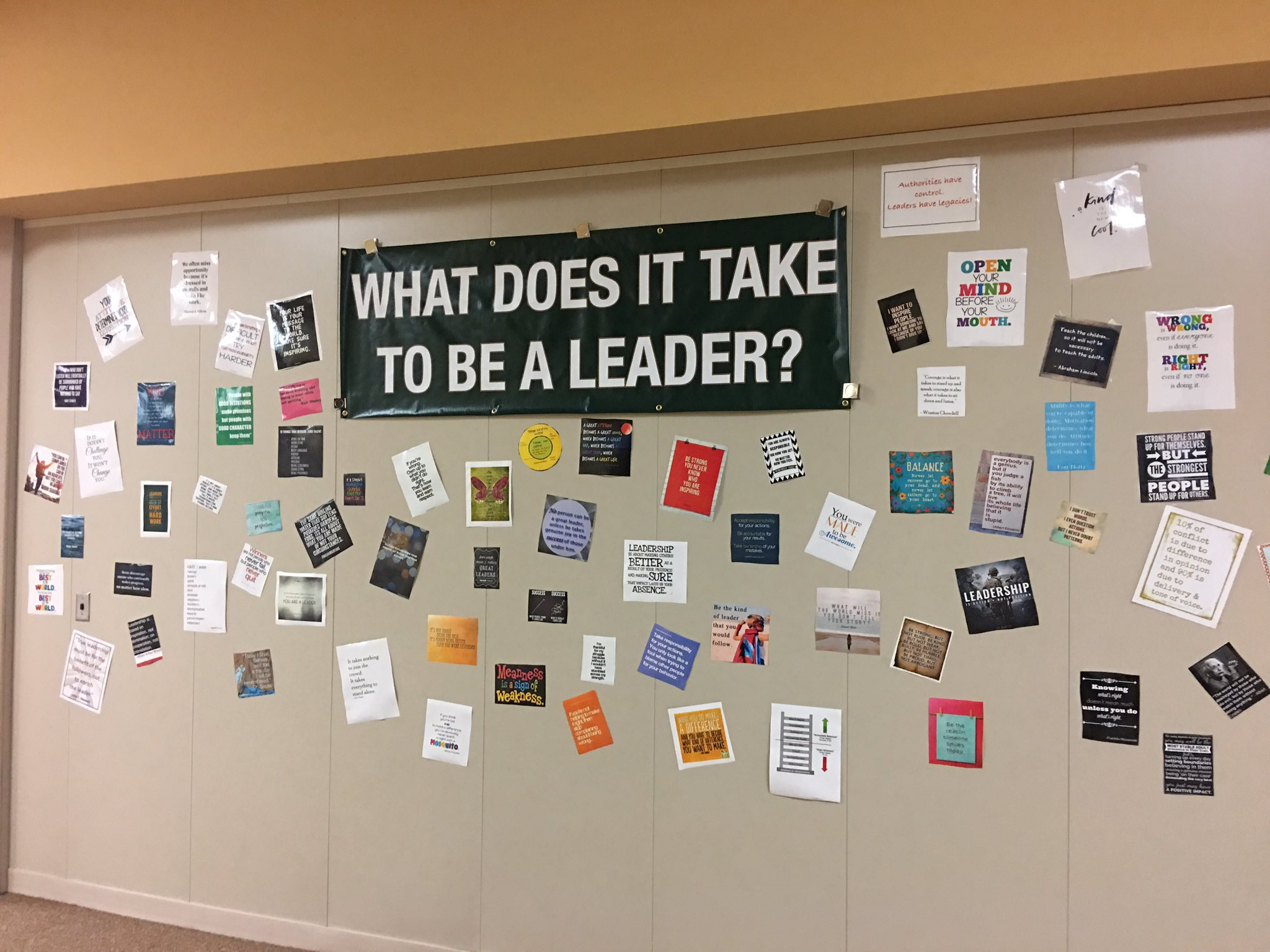 Reinforcing positivity and leadership at @KarrerMS  #theDublinDifference https://t.co/CYRFZuvviS