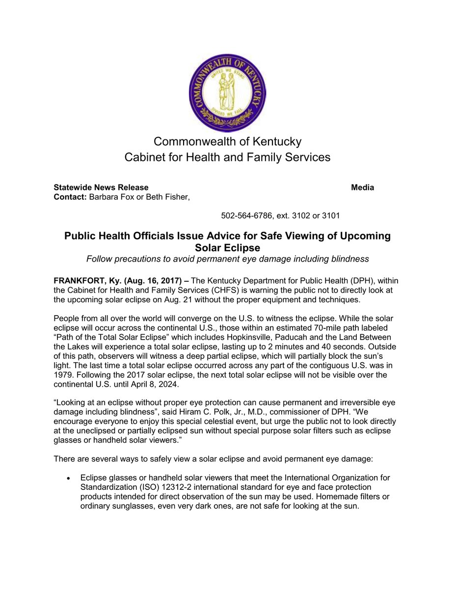 Mayor Jim Tom T On Twitter Please Read Share This Warning. Commonwealth Of Kentucky  Cabinet For Health And Family Services