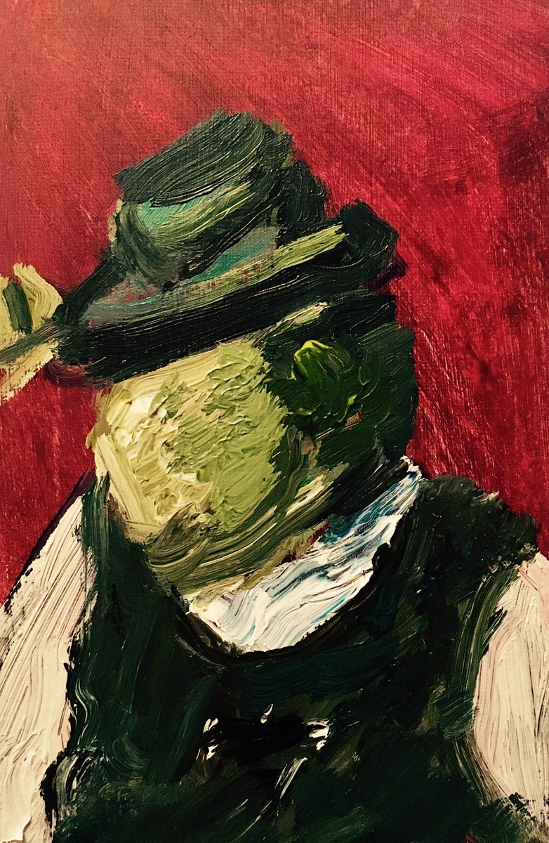 As requested by @Rick_RIB4EVER here is my #abstract #expressionism #sketch #painting of shrek fedora! #acrylicpainting on paper. (5x9).<br>http://pic.twitter.com/aukP1AKbsI