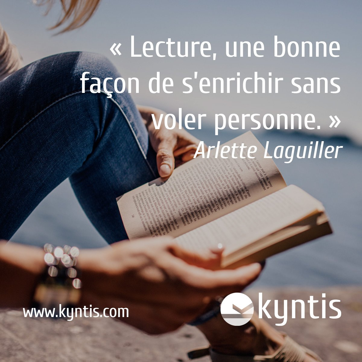 &quot;#Reading a #good way to get #Rich without stealing anyone&quot; #ArletteLaguiller #Citation #lecture #Passion #Energie #Love #KyntisYourself<br>http://pic.twitter.com/eZJBIt7cdw