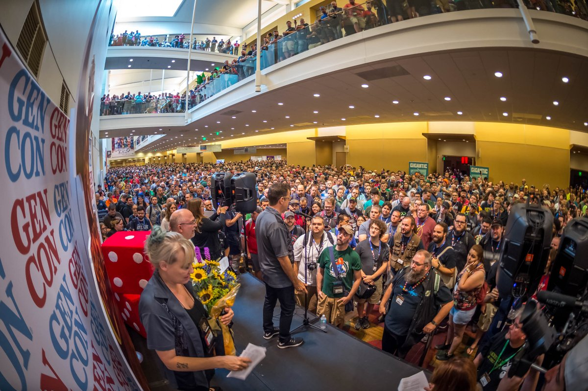 The doors to the historic #GenCon50 are officially open! #trynewgames...