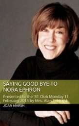 """""""A treat is in store for her fans!""""  #SAYING GOOD BYE TO NORA EPHRON   https:// amzn.com/B015LFRP4C  &nbsp;    Everyone loves Nora Ephron, right?<br>http://pic.twitter.com/eVQreuRYwN"""