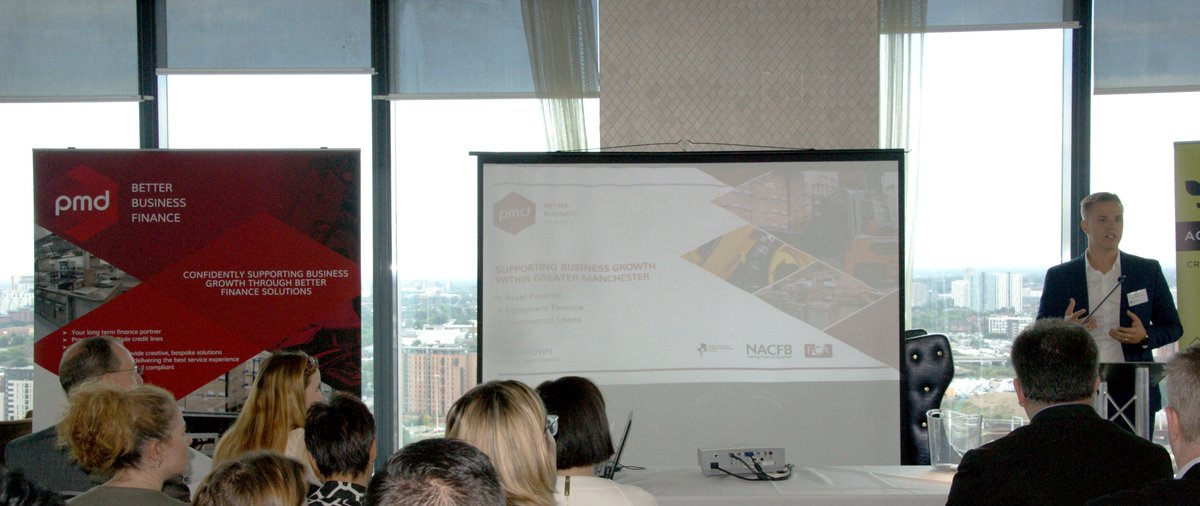 Yesterday, PMD's Tom presented to #SME's at @gmchamber&#39;s Action for Business event at @HiltonHotels in Manchester #assetfinance #funding<br>http://pic.twitter.com/F6hmVLkvxo
