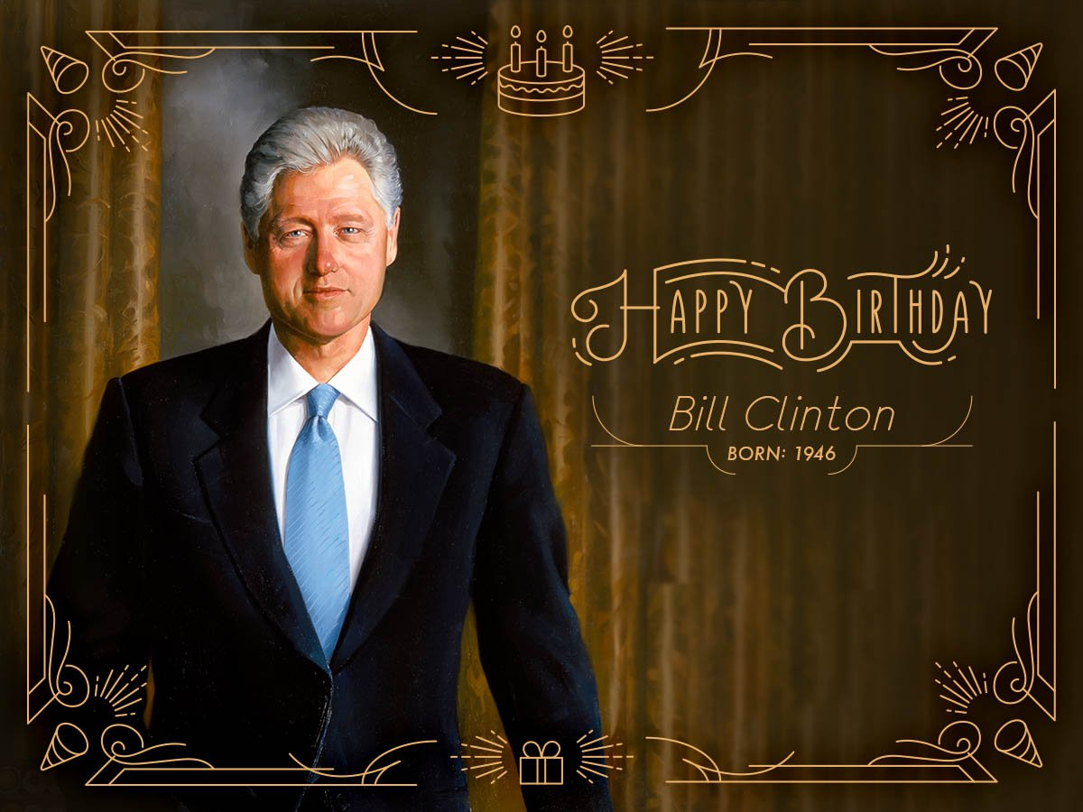 Happy birthday to our 42nd president, Bill Clinton (1993-2001) born on this day in 1946. https://t.co/H7UoVEfGLb