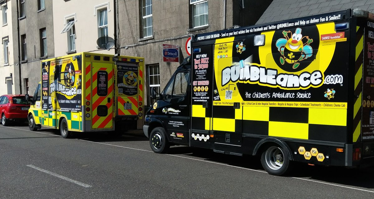 Our latest fleet addition  #BUMBLEance6 visited HQ in Tralee today.  Operating as temporary BUMBLEette for Southern Region, based in #Cork <br>http://pic.twitter.com/aHmL3Lx5NC