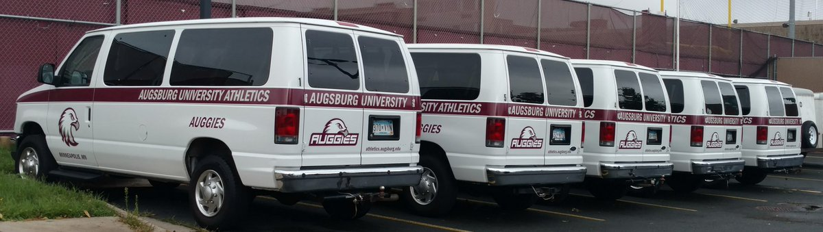 Our vans are ready for Augsburg University on September 1 ... Are you ready? #AuggiePride https://t.co/IhfJt1DTGV