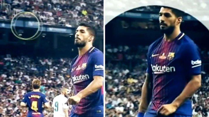 #Supercopa   Luis Suárez se encaró al Bernabéu con escupitajos. Vídeo:...
