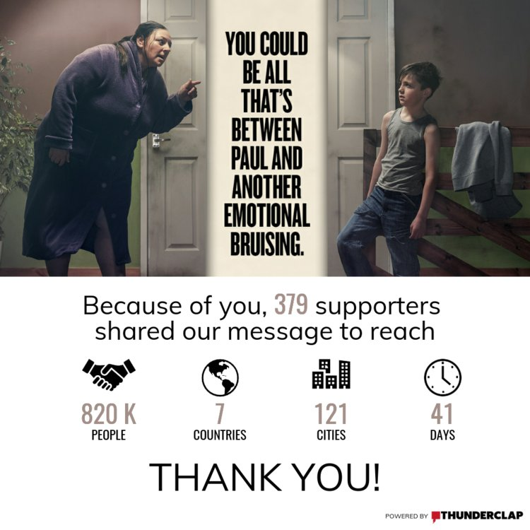 Thank you to all 379 people who supported our @ThunderclapIt campaign - you helped us reach over 820K people! #childrenspanel #lifechanging <br>http://pic.twitter.com/UsbkTSd0LO
