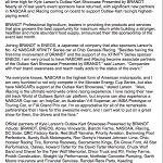 .@SpireSportsInc announces that @NASCAR and @iRacing will be sponsors of @KyleLarsonRacin's Outlaw Kart Showcase Sept. 4-5 in Chico, Calif.