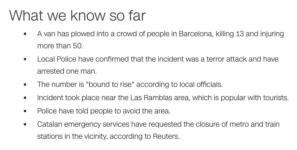 #Barcelona attack: What we know so far