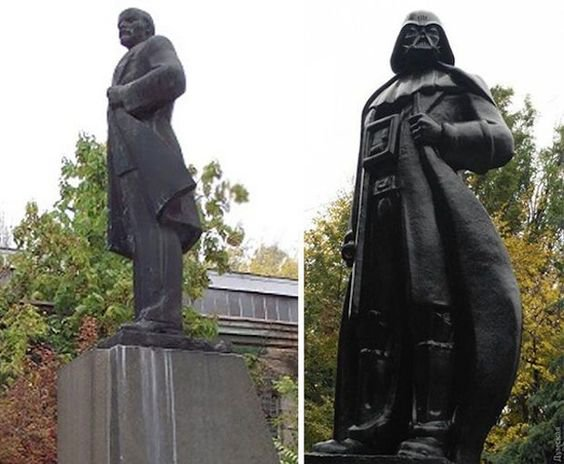 Statue talk reminds me that Odessa turned its Lenin statue into one of Darth Vader https://t.co/fGL4TqPwD8