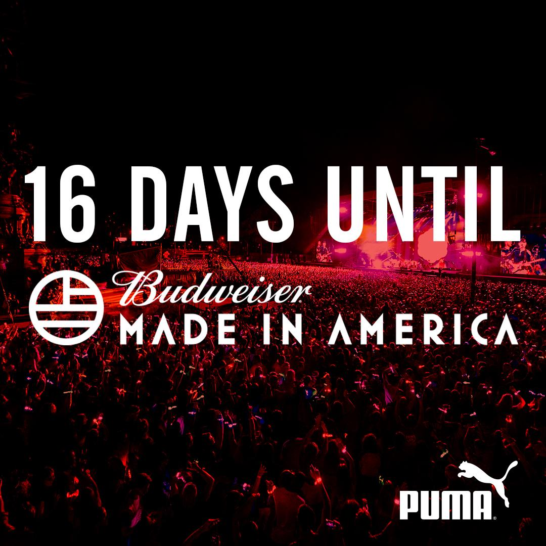 Our friends at @PUMA will be waiting for you at @Budweiser #MadeInAmerica #PUMAxMIA. Get tix now: https://t.co/oCx1hg3Ol4