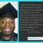 Paris Jackson knows the value of studying hard. He's accomplished his goal of obtaining his GED® certificate.