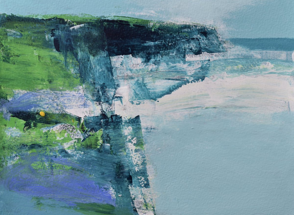 Sea Air. 19x26cm mixed media on paper. @LemonStGallery  #sea #cornwall #abstraction<br>http://pic.twitter.com/THIlEfcadO