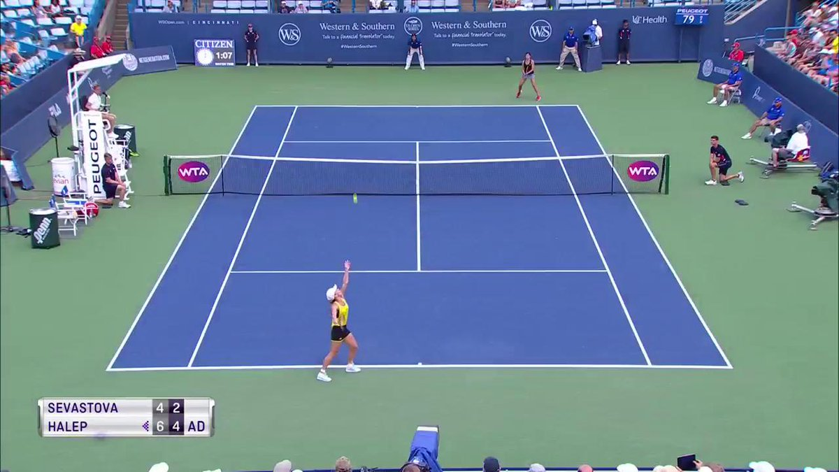.@Simona_Halep closing in on victory! #CincyTennis https://t.co/gfsRph...
