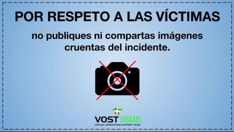 Por respeto,evita difundir imágenes de v...