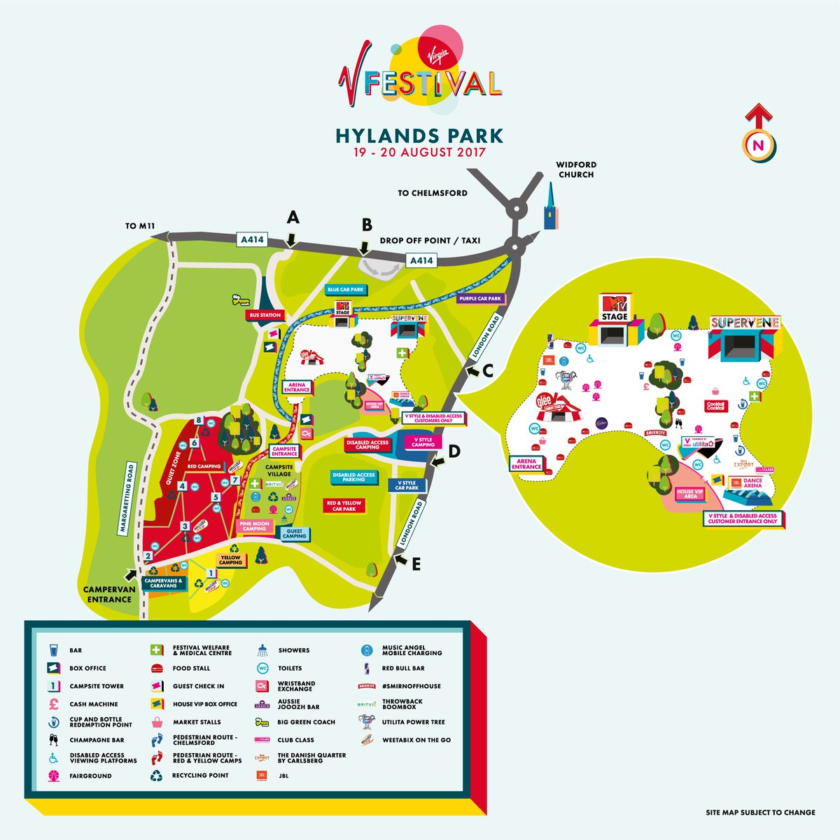 V Festival Hylands Park Map V FESTIVAL on Twitter: