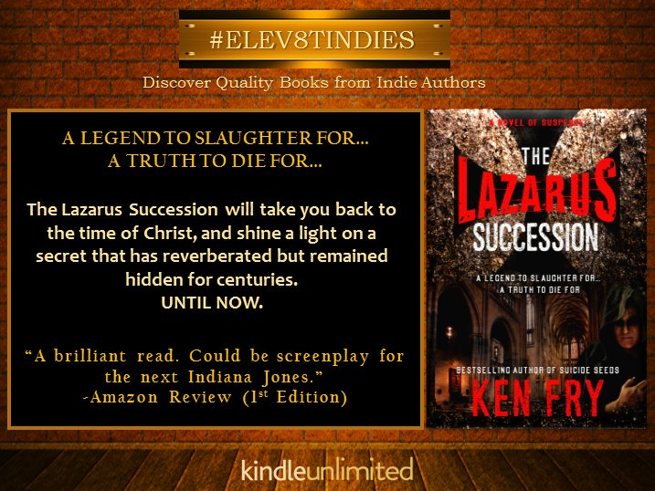 RT  #ELEV8TINDIES #Mustread UK #BESTSELLING RELIGIOUS #MYSTERY #THRILLER   http:// amzn.to/2u9t2U6  &nbsp;    #FREE #KU #IARTG #IAN1 @kenfry10<br>http://pic.twitter.com/2BpJYrnh9g