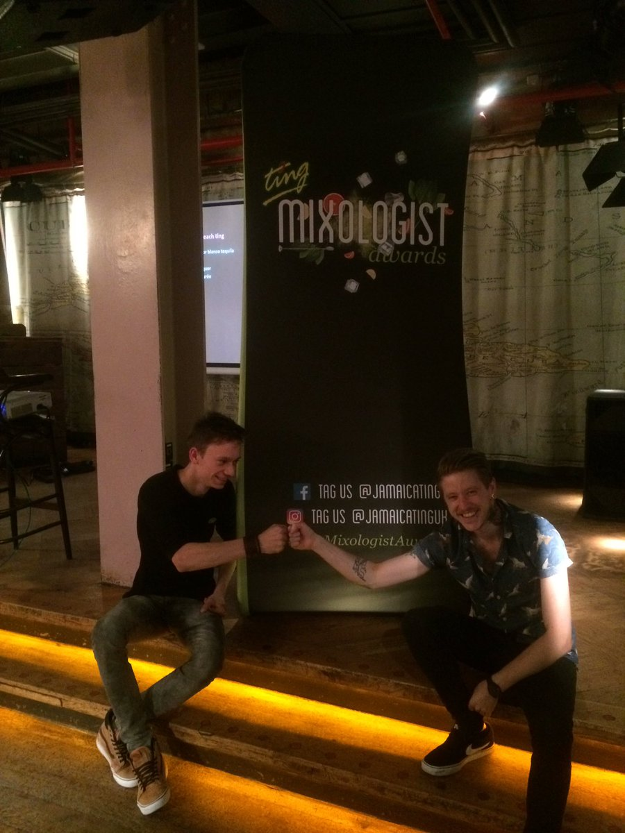 Andrei &amp; Nathan form @thefizzytarte before #tingMixologistAwards in #manchester #SemiFinals in @DeCubaMCR<br>http://pic.twitter.com/Rl3uwwhUca