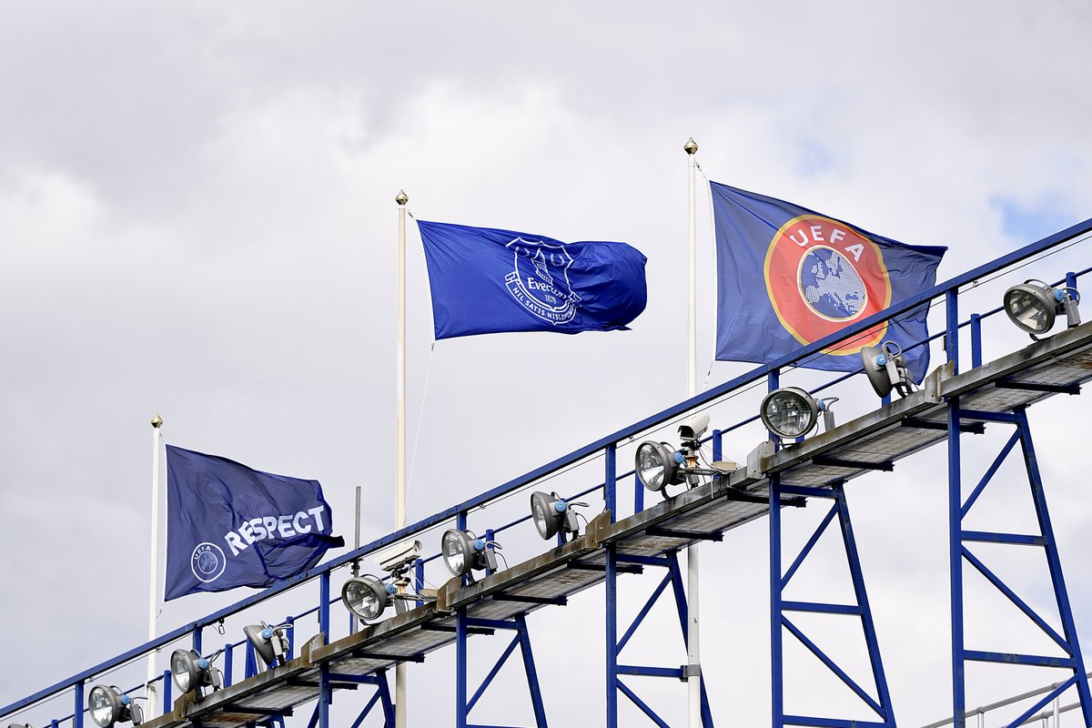 📸 | The @UEFA flag is flying at Goodison Park. Who's joining us here t...