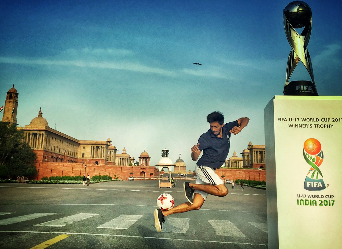 In 50 days, 🇮🇳India will host its first ever FIFA tournament! #FIFAU17...
