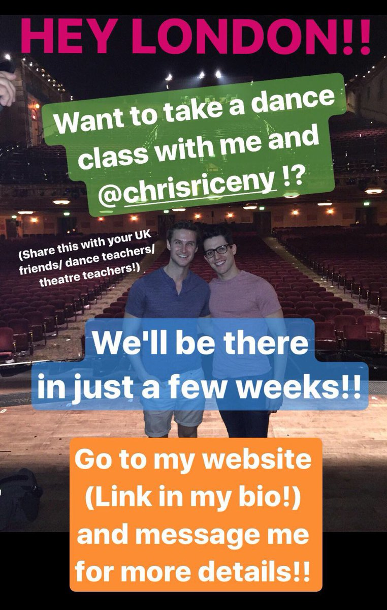 Hey #London!! @ChrisRiceNY and I are coming to visit and would love to set up a class with your school/ studio!! DM me for details #dance <br>http://pic.twitter.com/Mvjzya4emT
