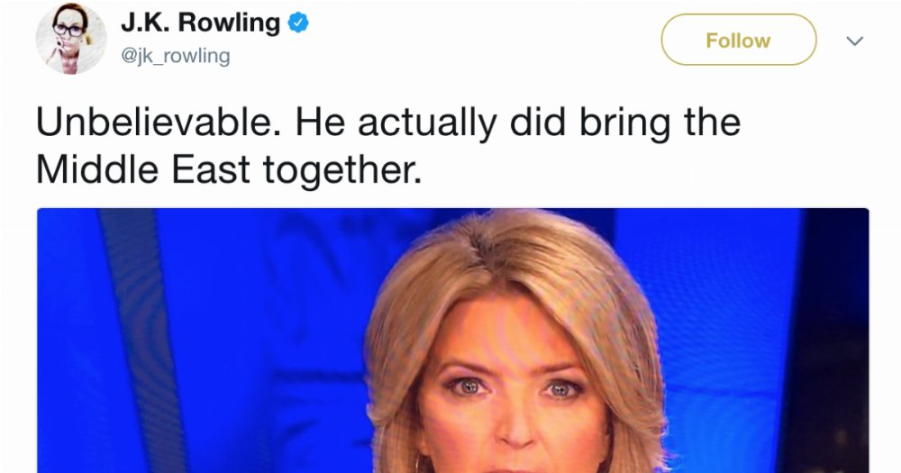 J.K. Rowling Just Dragged Trump On Twitter In The Most Hilarious Way https://t.co/NVoIE702rH