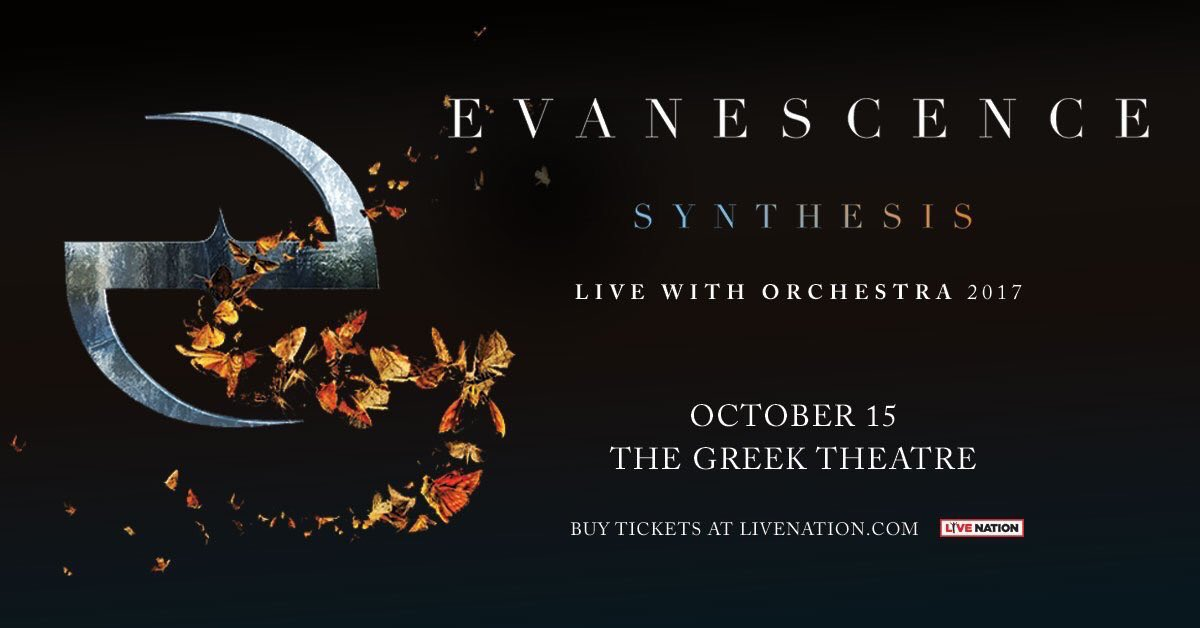 "The Greek Theatre on Twitter: ""Use code GREEK2017 to unlock the venue presale for @evanescence on 10/15 going on right now at @Ticketmaster.com #evanescence ..."