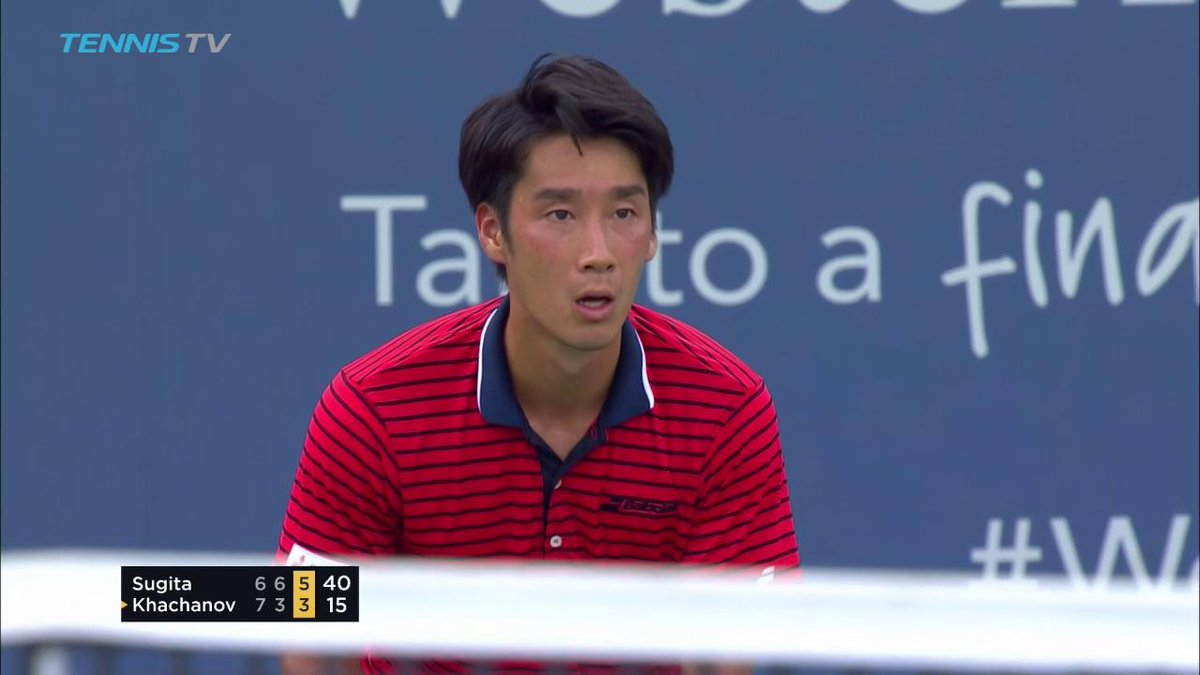 Enormous moment for @sugitayuichi88 making his first @ATPWorldTour Mas...