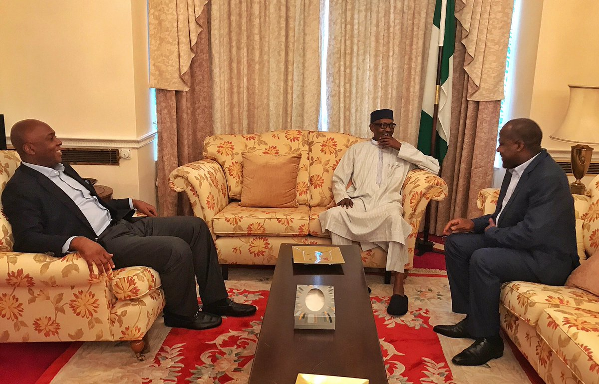 Breaking: Saraki, Dogara Visit Buhari in London