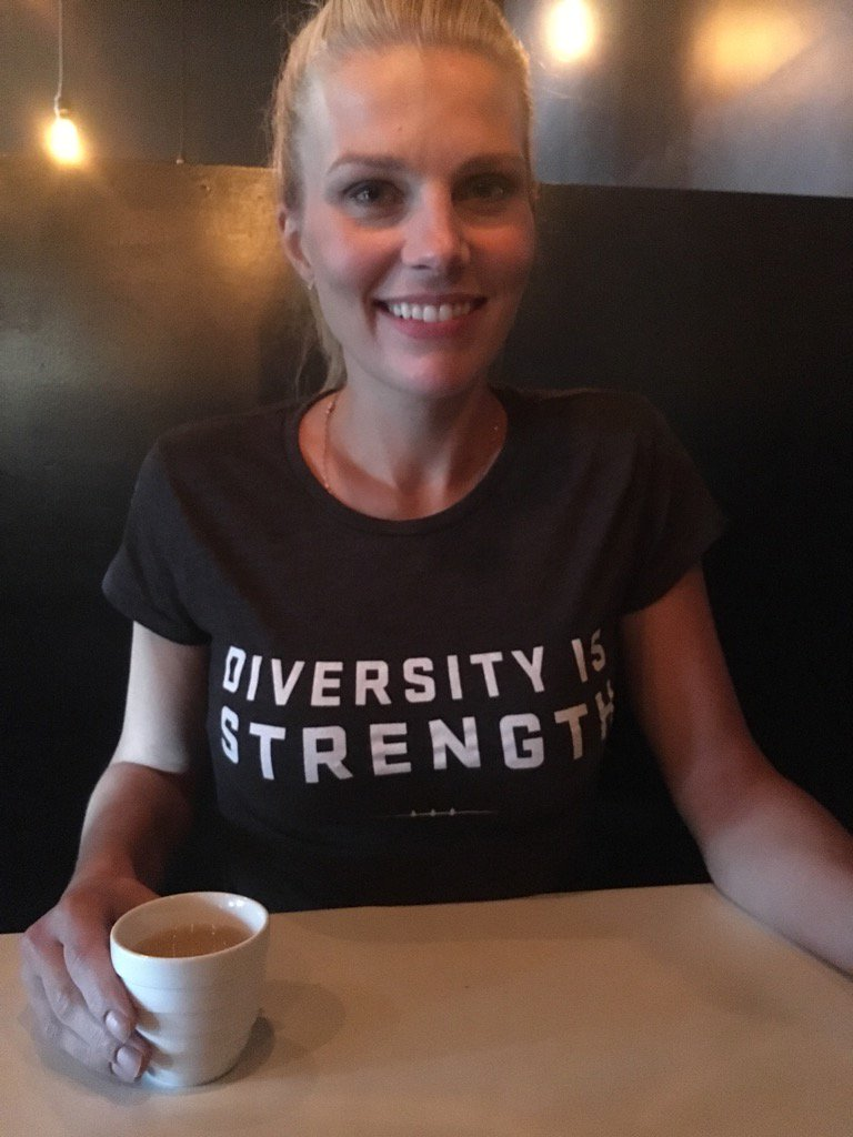 Sporting my new #DiversityIsStrength shirt in advance of tonight's #Es...