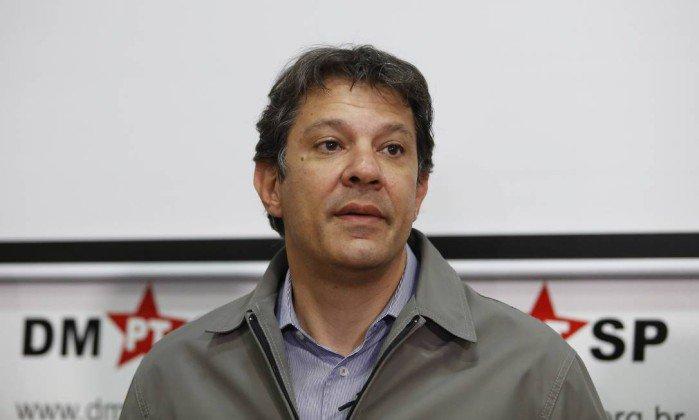 Haddad nega planos de assumir candidatura do PT à presidência, caso Lula seja impedido. https://t.co/ojYwtsB4qJ
