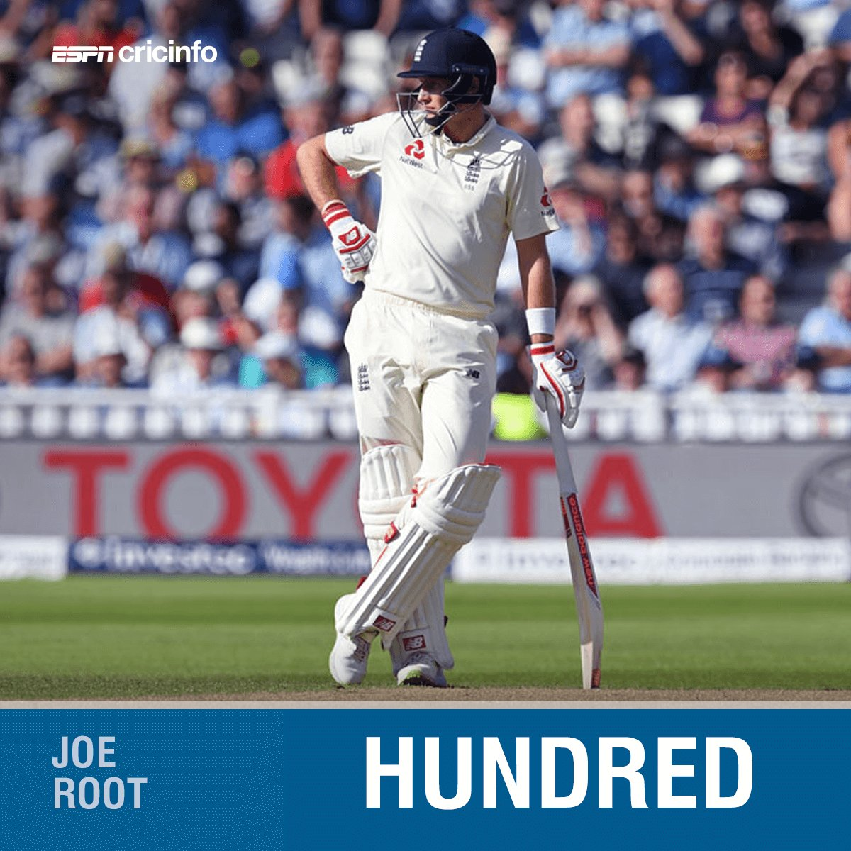 The first to hit a hundred in a day-night Test in England: Joe Root...