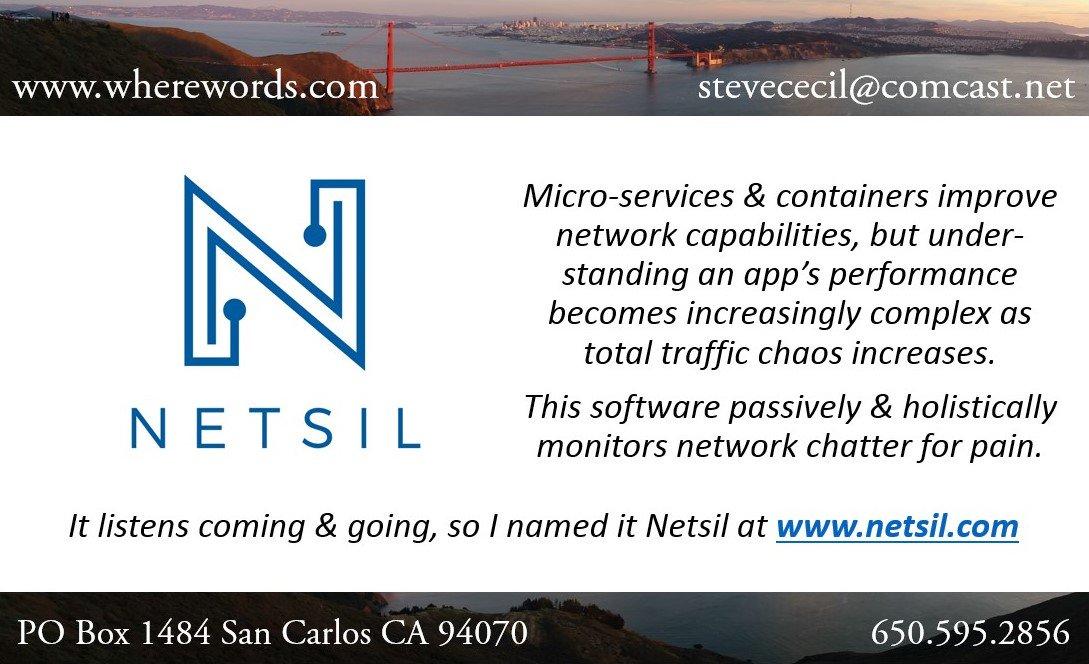 Yes, I named it #netsil #microservices #containers #bigdata #cloud #DevOps #CIO #SRE #AWS #startups #namer #naming #branding #VerbalBranding<br>http://pic.twitter.com/7eCYnhu5XI
