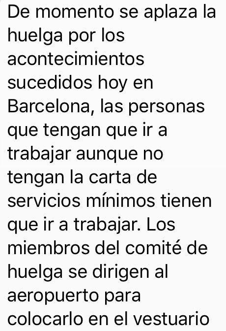 La plantilla de Eulen suspende la huelga del Prat tras el atentado en las Ramblas de #Barcelona