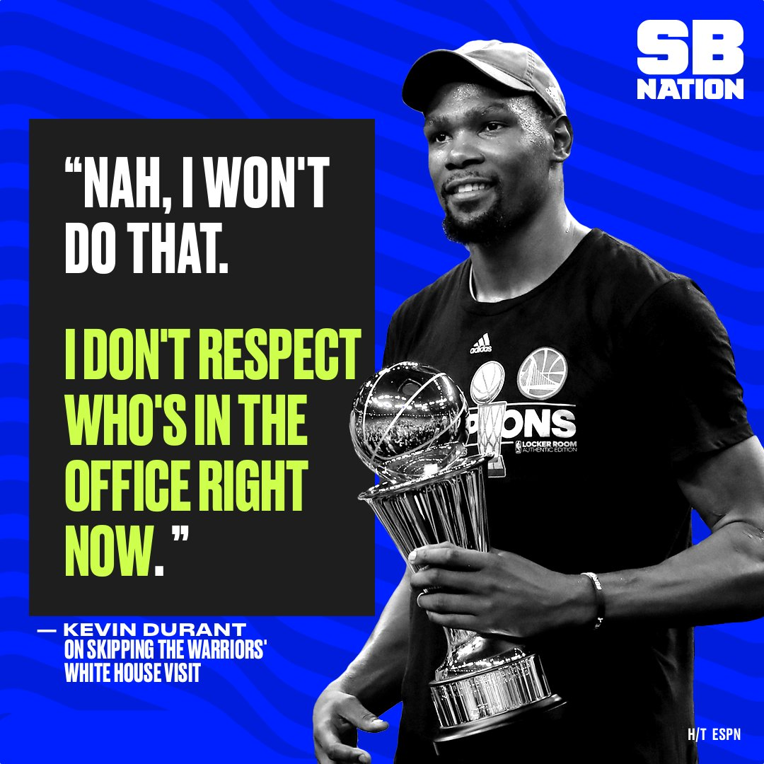 Kevin Durant isn't interested in a White House visit