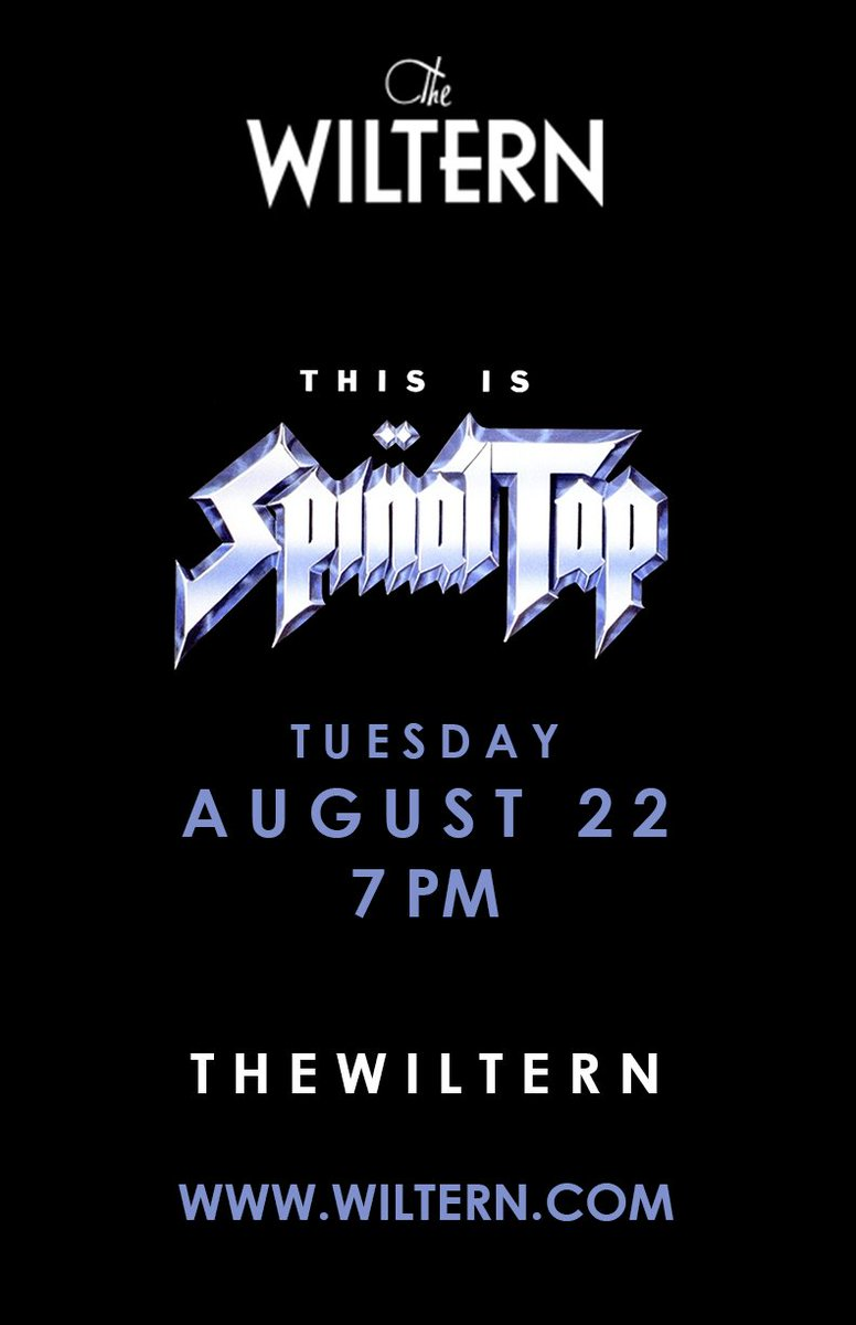 Want to attend This is Spinal Tap movie night at the @wiltern this Tuesday, 8/22 in Los Angeles? RT & follow us to win tix. 4 winners at 5pm