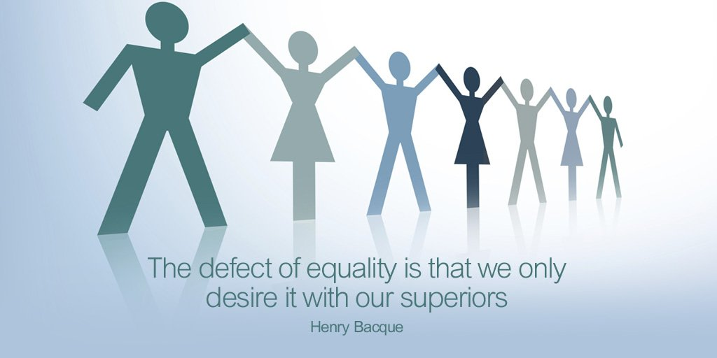 The defect of equality is that we only desire it with our superiors - Henry Bacque #quote <br>http://pic.twitter.com/uABjyrxi6R