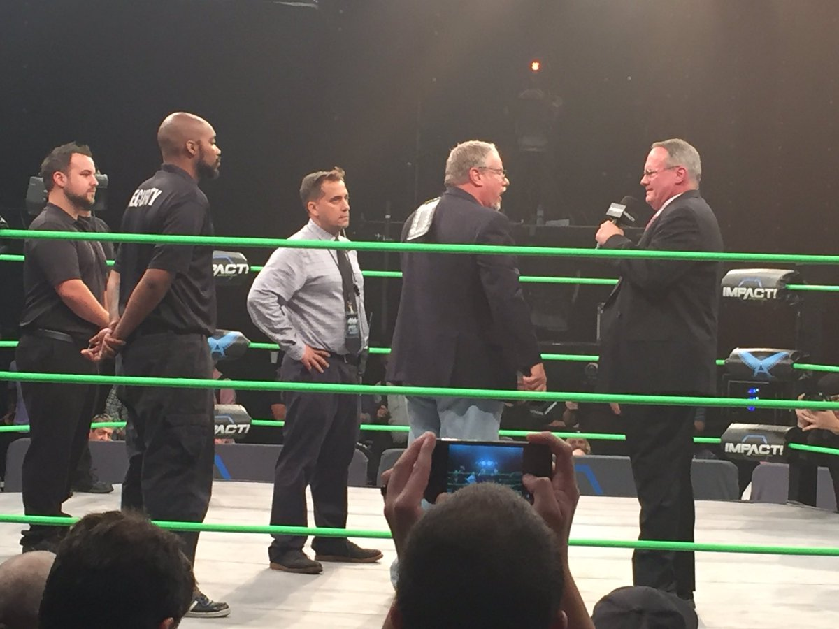 #JimCornette just Fired #BrucePrichard. He is being escorted out. #GFW  #ImpactWrestling  #IMPACTonPOP<br>http://pic.twitter.com/jTSzvGTxty