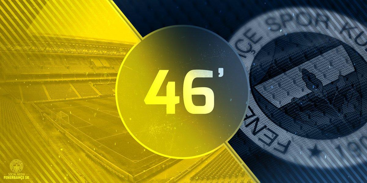 İkinci yarıya Fenerbahçemiz başlıyor. Başarılar #Fenerbahçe! #FCVvsFBSK