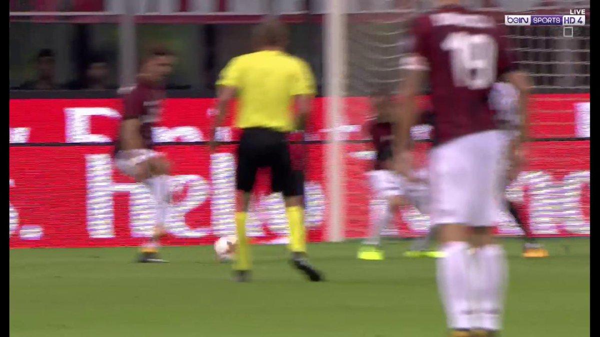هدف! آندريه سيلفا يوقع على أول الأهداف! #ميلان 1 و  #سكانديا 0. #beINU...
