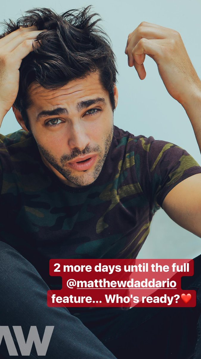 #MATT | @MatthewDaddario&#39;s interview with #RAW will be released in two days. (via @RawPages)<br>http://pic.twitter.com/zj4cshZ4E3
