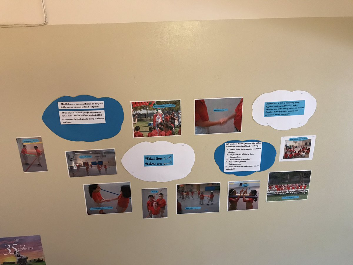 Putting the PE in Peace created a new wall explaining #Mindfulness with student examples. <br>http://pic.twitter.com/71NZzLg3WS