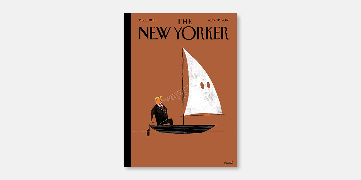 New Yorker and Economist covers slam Trump's defence of white